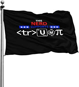 This Nerd Supports Trump Home Decoration Flag Garden Flag Indoor Outdoor Flag 4 X 6 Ft