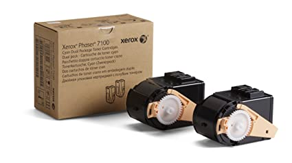 Xerox 106R02602 Phaser 7100 Toner Cartridge High Yield, Cyan, Pack