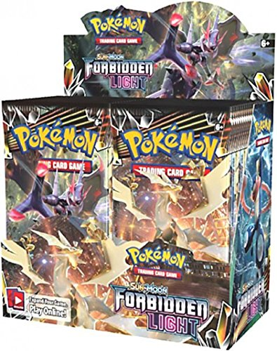 36ct Booster Box - Pokemon TCG: Sun & Moon Forbidden Light Booster Sealed Box | Collectible Trading Card Set | 36 Booster Packs | Over 130 Cards + 5 Prism Star Cards, 8 Pokemon-GX Cards, 6 Ultra Beasts, 15 Trainer Cards