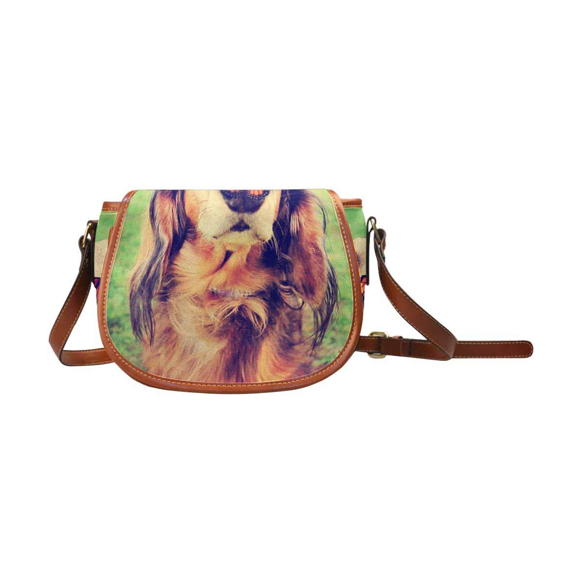 InterestPrint Cute Dachshund a Butterfly on His or Her Nose Women Crossbody Bag Saddle Shoulder Bag Small Purse Satchel