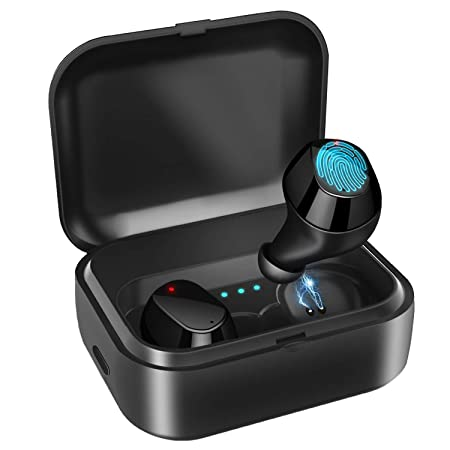 Picun True Wireless Earbuds Bluetooth 5.0 Headphones Running, 72Hrs Playtime IPX7 Waterproof in-Ear Sports Wireless Earphones with Mic 3D Stereo Bluetooth Earphones w Charging Case