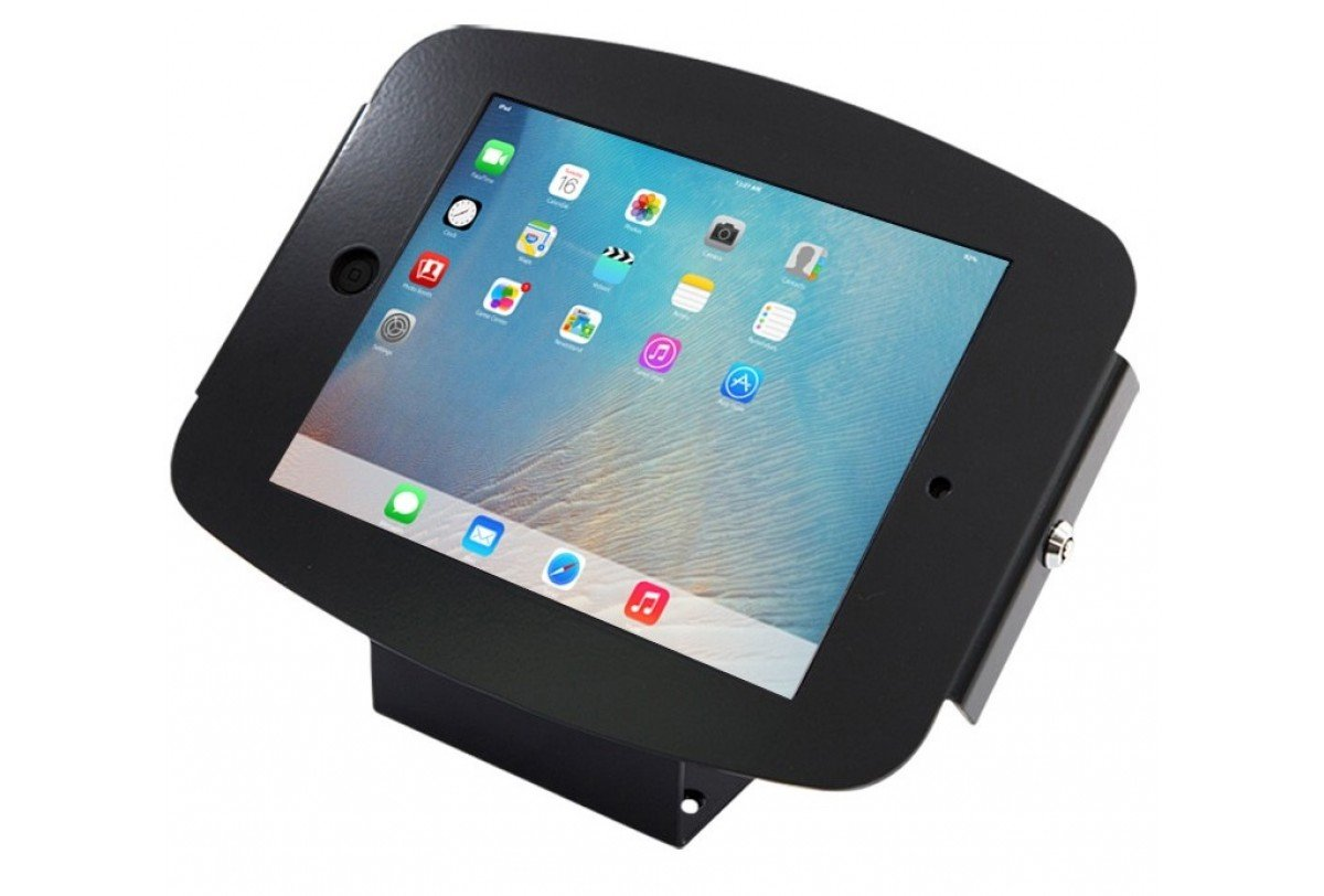Maclocks 101B290SENB Secure Space Enclosure Kiosk with 45 Degree Mount for the iPad Pro (Black)