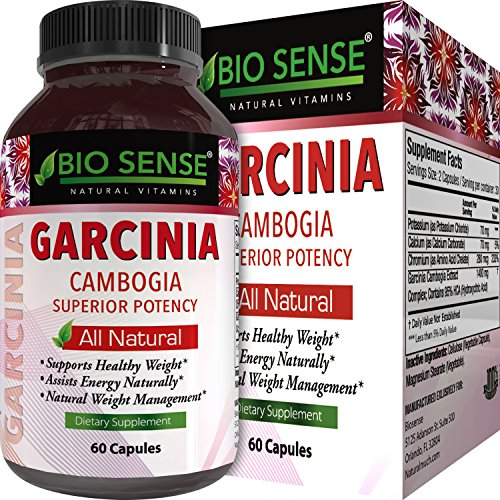 Garcinia Cambogia Weight Loss Supplement 95% HCA Diet Pills for Men and Women Natural Fat Burner Carb Blocker Support Pure Appetite Suppressant Energy Booster Complex 60 Capsules by Bio Sense by Bio Sense