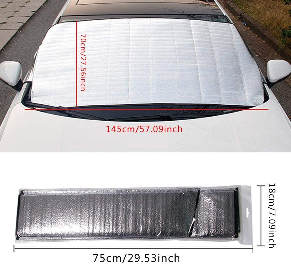 Frost Guard Pefect Fit for Cars in All Weather Snow UV Ice Protection Car Windshield Cover Car Windscreen Windshield Ice Cover Dust Sun Shade Protector in All Weather