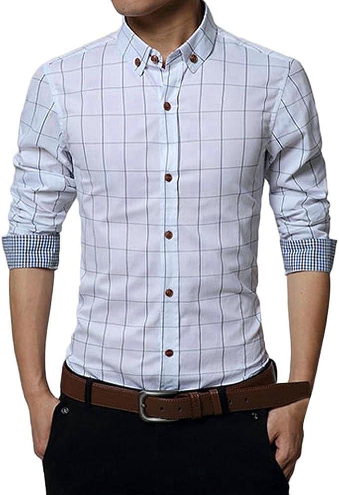 CLOOM Camicie Uomo, Camicie da Uomo Camicie con Maniche