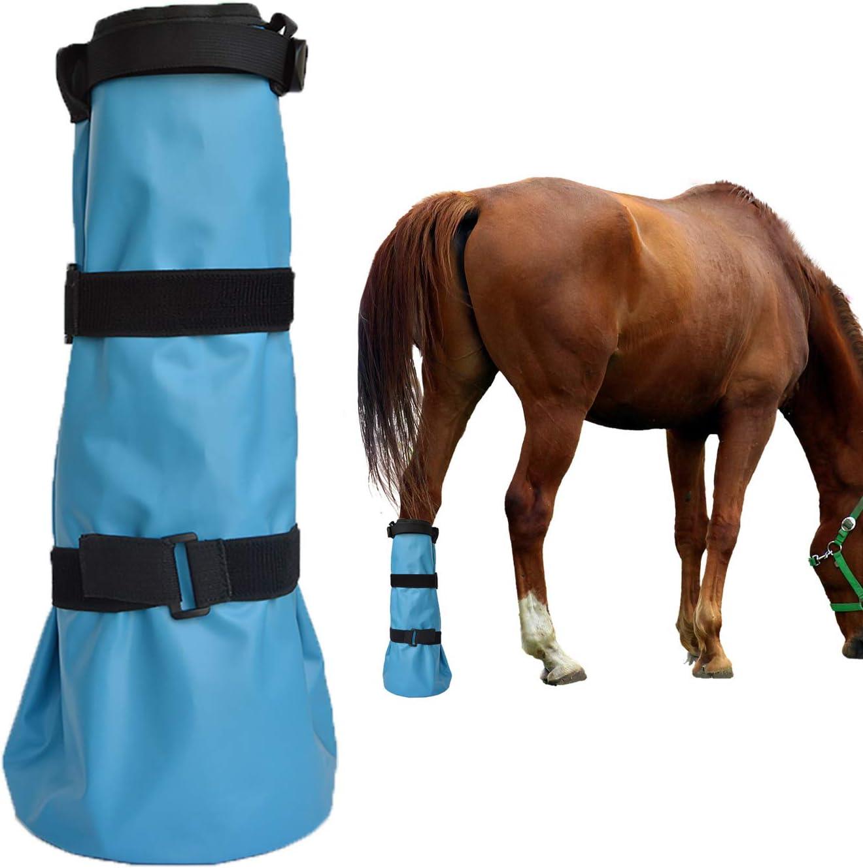 yeezo 使いやすい蹄型ソーキングブーツ ホースソーカーバッグ 馬用浸漬ブーツフーブ ケアトリートメント バケットソーカーサック EVAパッドと2つのゴムバンド付き