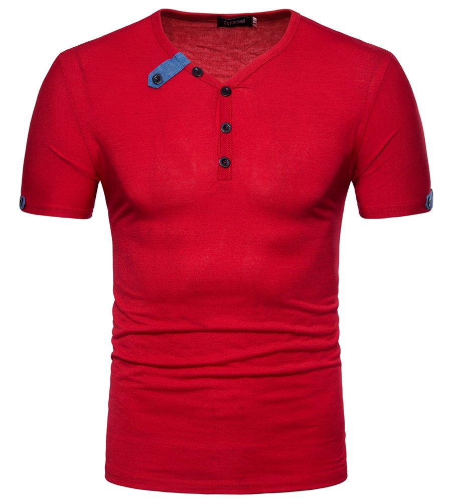 MISSMAO Camisetas de Polo de Manga Corta Para Hombre Wicking Transpirable Running Training Sports Tee Tops jybv6DJ