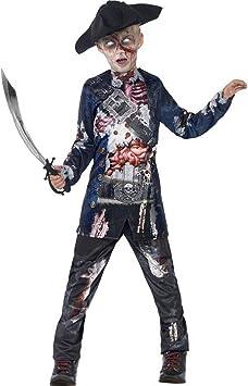 Halloween enia - Disfraz de Pirata de Terror para niños, Deluxe en ...