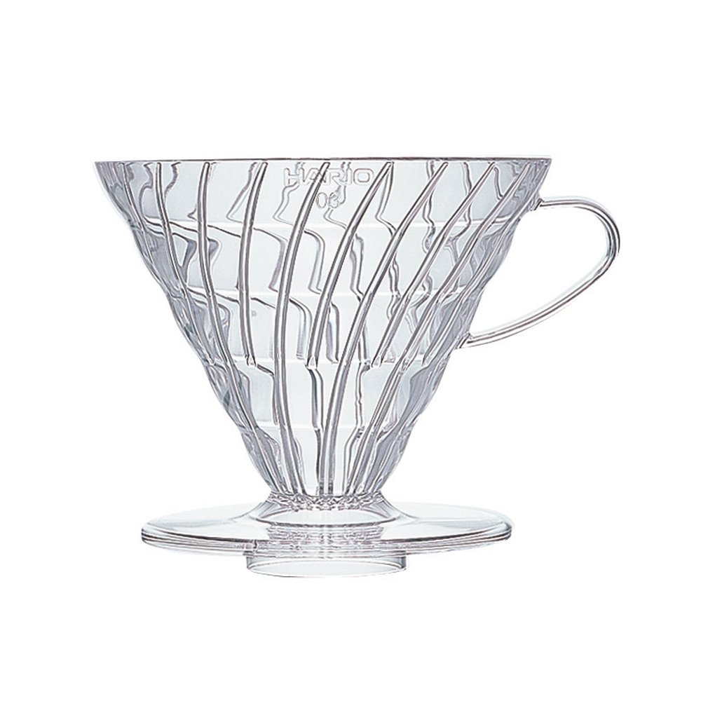 Hario V60 Plastic Coffee Dripper (Size 03, Clear)