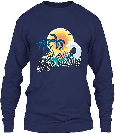 Long Sleeve Shirt In Prink Kitesurfing Flag Tee Shirt Design
