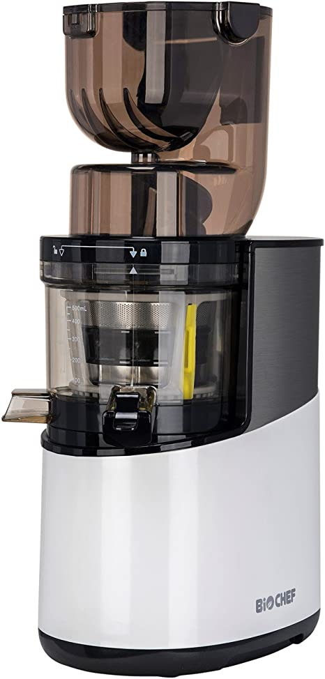 BioChef Atlas Whole Slow Juicer PRO Commercial Grade Motor, 40 RPM, Wide Feed Juicer, Masticating Cold Press Juicer Machine for Whole Fruit and