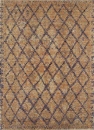 Rugs America RA25379 AI200B Area Rug, 4' x 6', Gold (Plum 4x6 Area)