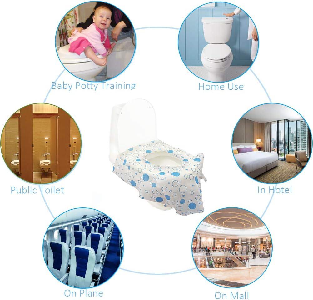 Woqook 20-teilige Toilettensitzbez/üge Tragbare Einweg-T/öpfchensitzbez/üge f/ür Baby-T/öpfchentraining und Reisen