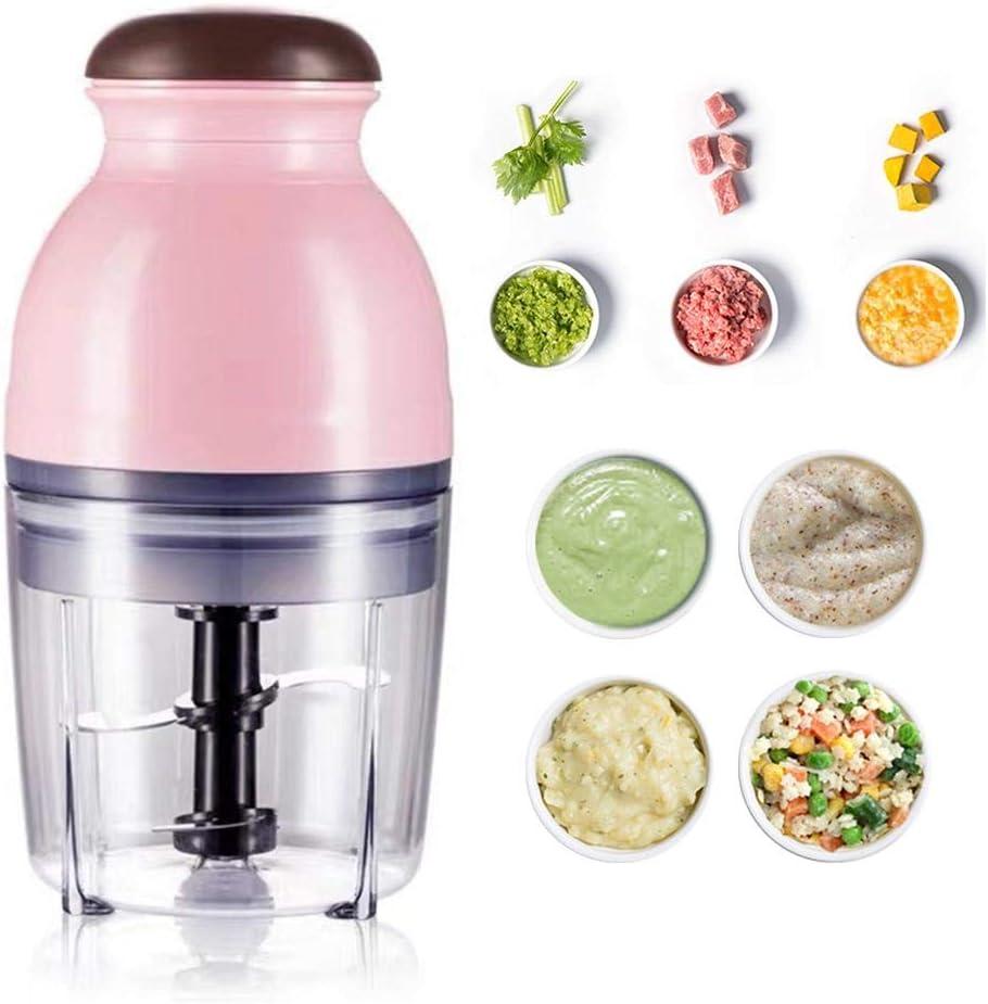 Adminitto88 - Mini picadora eléctrica de 600 ml, minipicadora eléctrica eléctrica pequeña, portátil, licuadora de frutas, batidora de verduras para alimentos para bebés