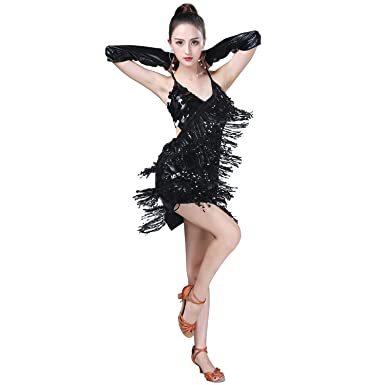 Whitewed Salsa Latin Fusion Dance Group Party Ballroom Dresses Wear for  Practice Stage e863a20de1d3