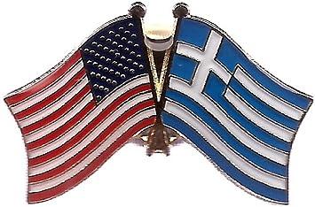 GREECE Country Flag Metal lapel PIN BADGE ..NEW