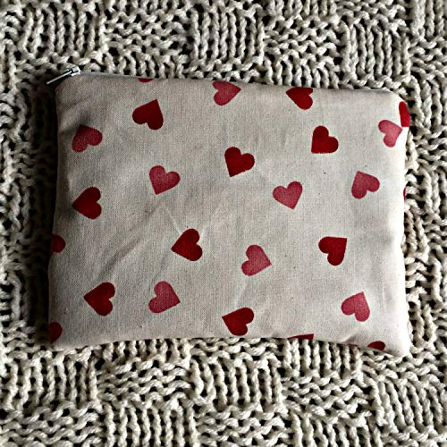 Zip Pouch made with Emma Bridgewater Hearts fabric