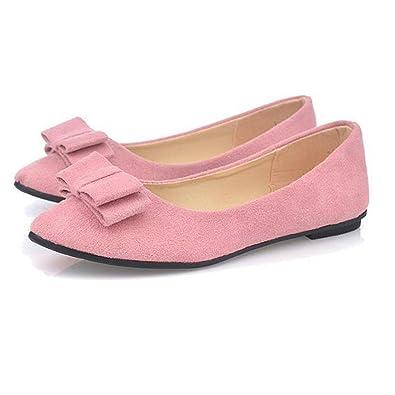 QinMM Damen Ballett Schuhe Arbeit Wohnungen Fliege Slip Schuhe Boot Bequeme Schuhe Casual Daliy Schuhe Stilvolle