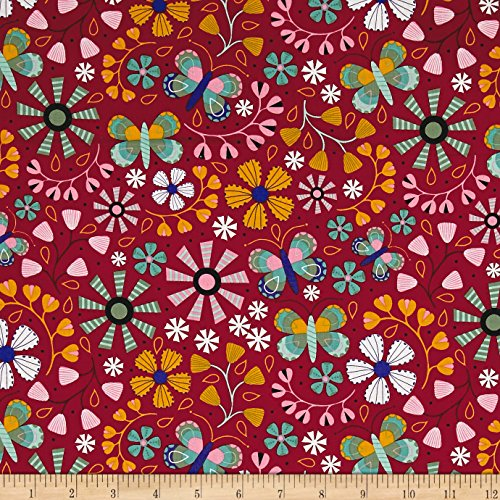 Floral Daydream (Daydream Floral Allover Wine Fabric By The Yard)