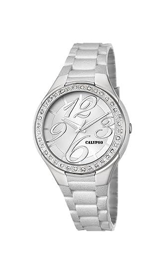 Calypso watches K5637/5 - Reloj de Pulsera Mujer, plástico, Color Blanco: Amazon.es: Relojes