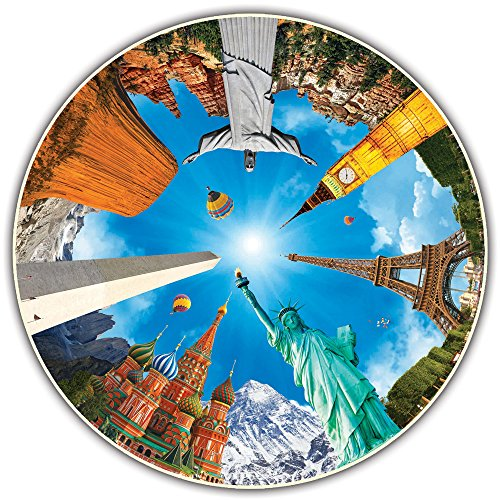 500 Piece Jigsaw City (Round Table Puzzle - Legendary Landmarks (500 Piece))