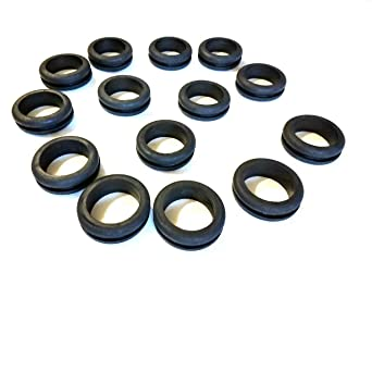 Amazon Com Rubber Grommets For 1 Panel Hole 1 2 Id X 1 1 4 Od Fits 1 8 Panel Sbr Rubber Grommet Black Rubber Grommet Round Rubber Grommet 10 Home Improvement