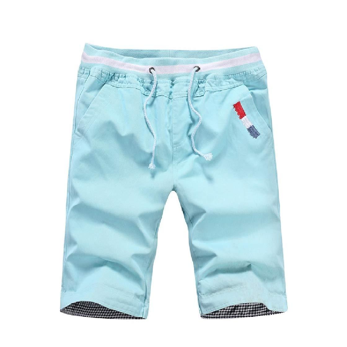 YUNY Men Leisure Straps Low-Waist 1//2 Length Board Shorts Beach Shorts AS2 2XL