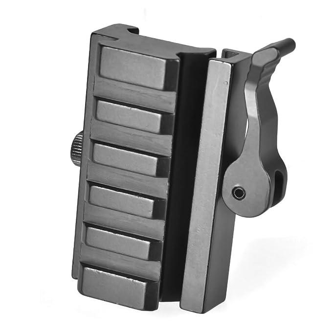 Kayheng 1 Zoll 25,4mm Offset Ring 20mm Picatinny-Schiene Aluminiumlegierung QD Gewehrmontagering f/ür Weaver Rail Mount T2008 Taschenlampen Laservisier