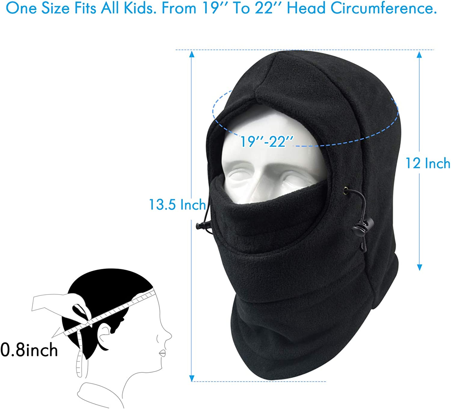 Your Choice Kids Balaclava Ski Cycling Face Mask for Cold Weather Girl Boy Childrens Winter Outdoor Fleece