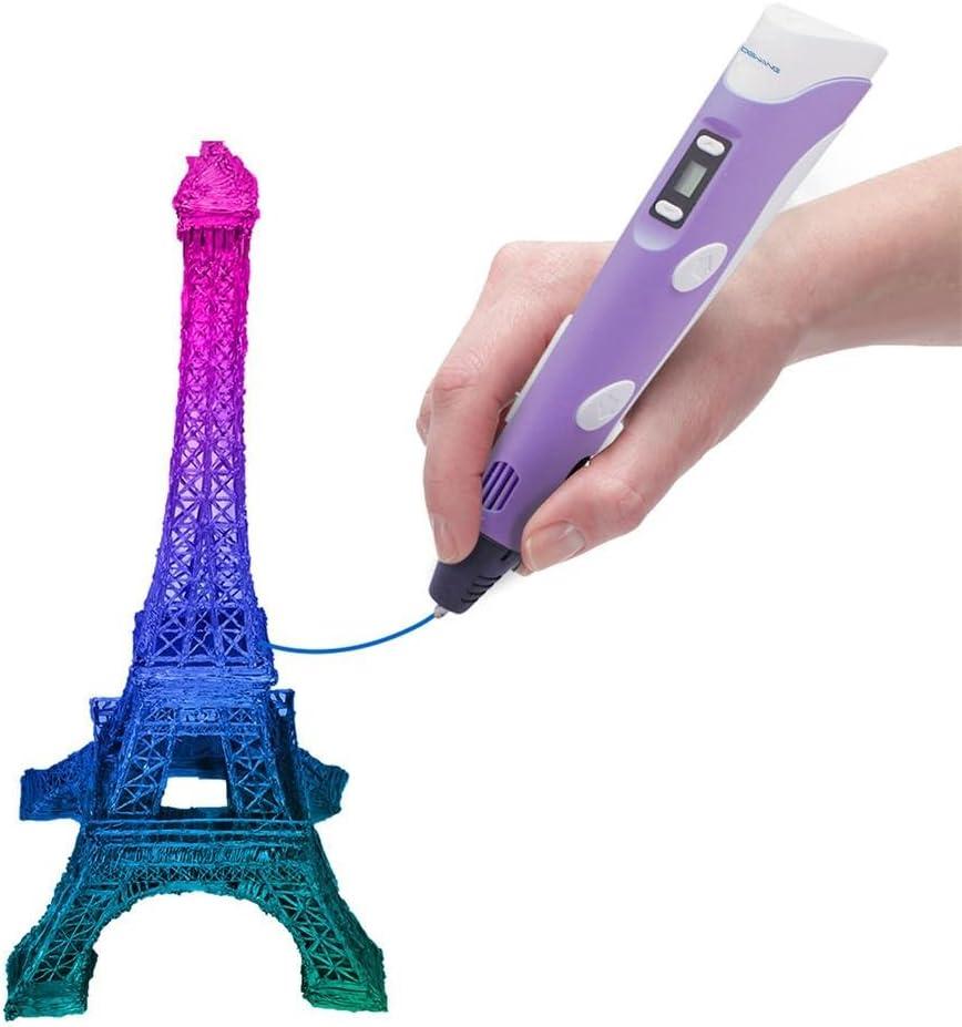 Am Besten f/ür DIY Geschenk Kunst /& Modell Arten Zum Basteln leap-G Rubyu Drucken Intelligenter 3D Stift mit LCD Bildschirm Intelligenter 3D Drucker Zeichenstift f/ür Kinder
