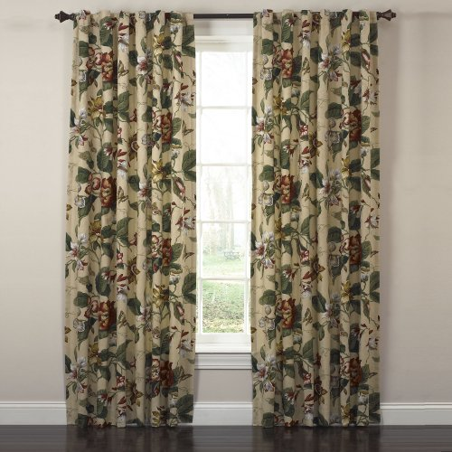 Waverly Laurel Springs Lined Panel Pair Curtain100 Inch Wide X 84 Long