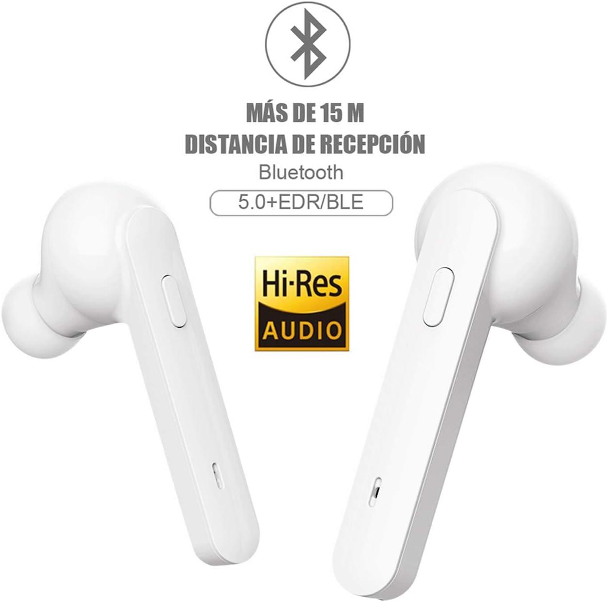 Auriculares Bluetooth,Auriculares inalámbricos Johnbee Bluetooth 5.0 Mini Twins Estéreo In-Ear Auriculares Carga Rapida Resistente al Agua con Caja de Carga para iPhone y Android: Amazon.es: Electrónica