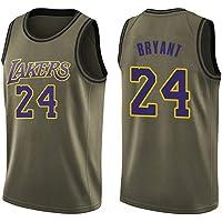 LDFN-Jerseys Kobe Bryant # 24 Camiseta de Baloncesto de los Hombres - NBA Los Angeles Lakers, Mangas de los Hombres Jersey de Malla de Baloncesto Swingman Deporte Chaleco de la Tapa