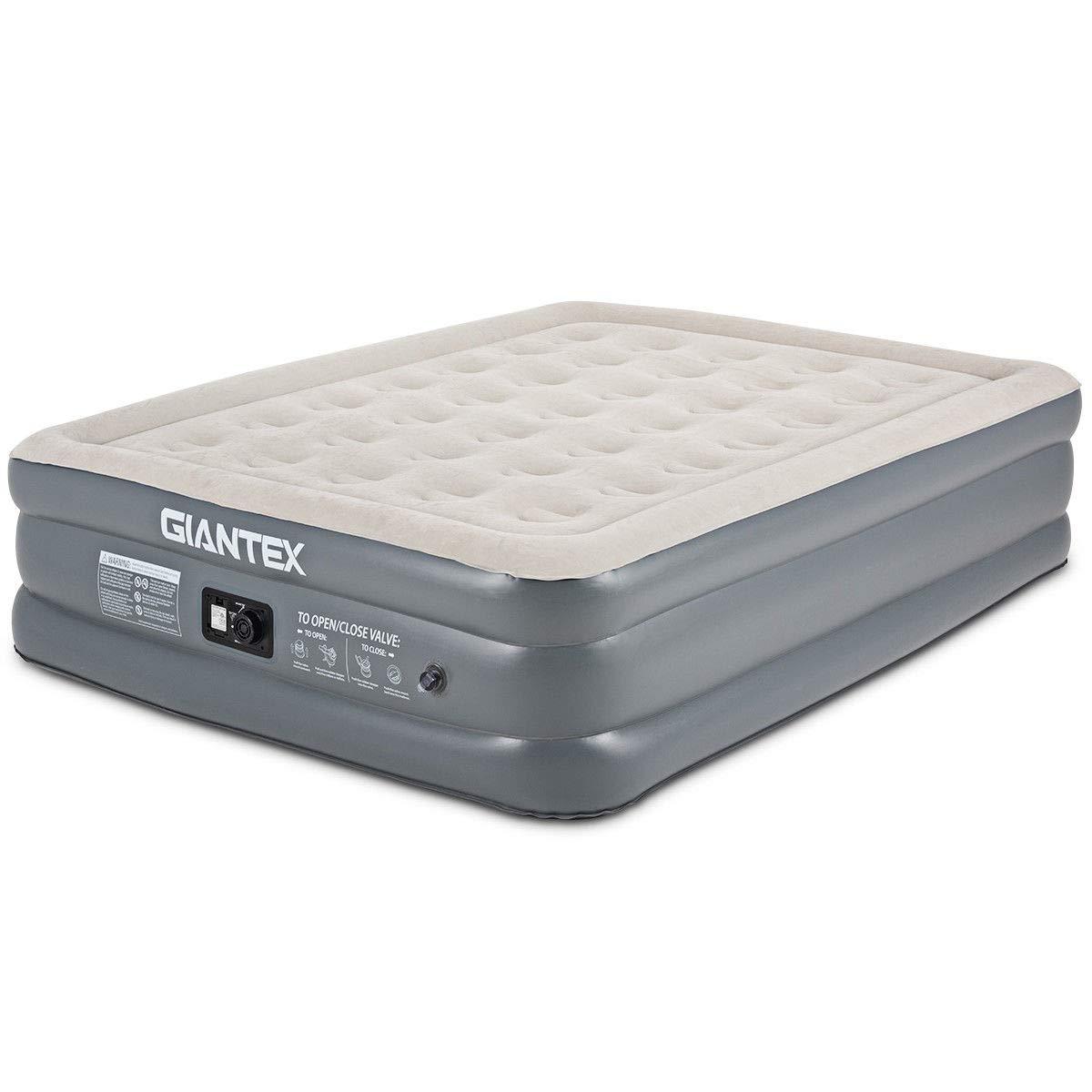 Giantex Air Mattress Luxury Airbed with Comfort Technology & Internal High Capacity Pump Inflatable Mattress (Queen)