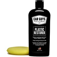 CAR GUYS Plastic Restorer - The Ultimate Solution for Bringing Rubber, Vinyl and Plastic Back to Life! - 8 Oz Kit
