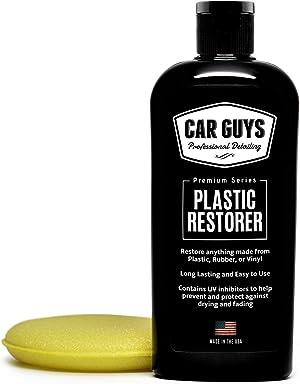 CAR GUYS Plastic Restorer - The Ultimate Solution for Bringing Rubber, Vinyl and Plastic Back to Life! - 8 Oz Kit