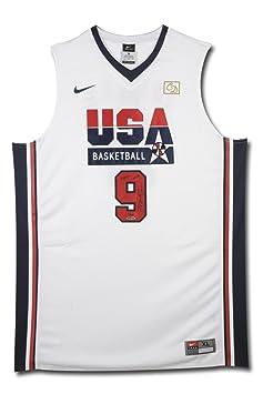 buy popular a95d8 b6e08 MICHAEL JORDAN Signed & Inscribed Nike 1992 Olympic ...