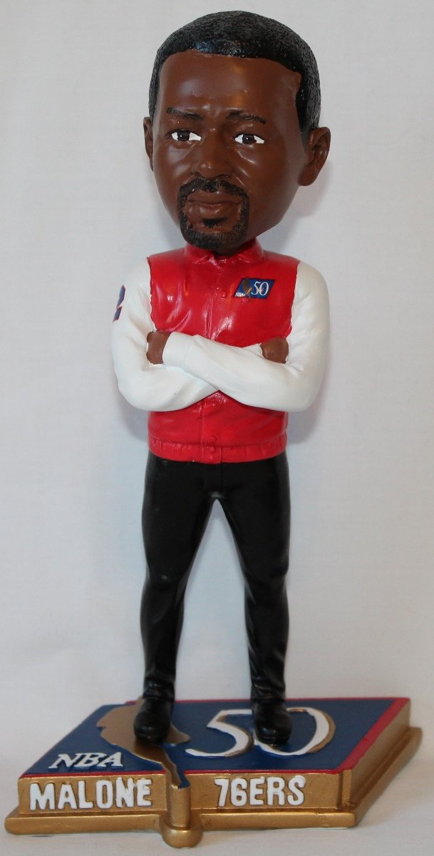 Forever Collectibles Moses Malone Philadelphia 76ers NBA 50 Greatest Commemorative Bobble Head BHNBLEG50PHLMM