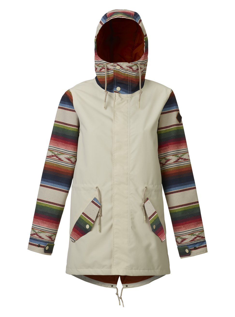 Burton Women's Sadie Jacket, Canvas/Canvas Iris Stripe, Medium by Burton