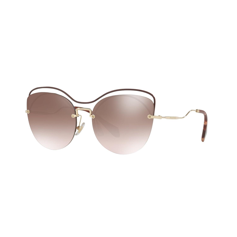 Miu Miu Damen Sonnenbrille 0MU50TS R1JQZ9, Braun (Brown/Brown Silver), 60