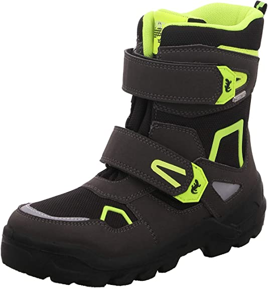 Lurchi Boys' Kaspar-Sympatex Snow Boots, Black (Black Yellow 49), 3.5 UK,Lurchi,3331032