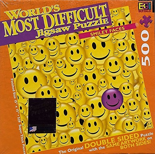 World's Most Difficult Jigsaw Puzzle; Smiley Faces, Double Sided Puzzle