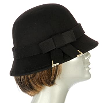 d55590726bf Buy fashion2100 Poly felt bucket hat with bow Black Online at Low Prices in  India - Amazon.in