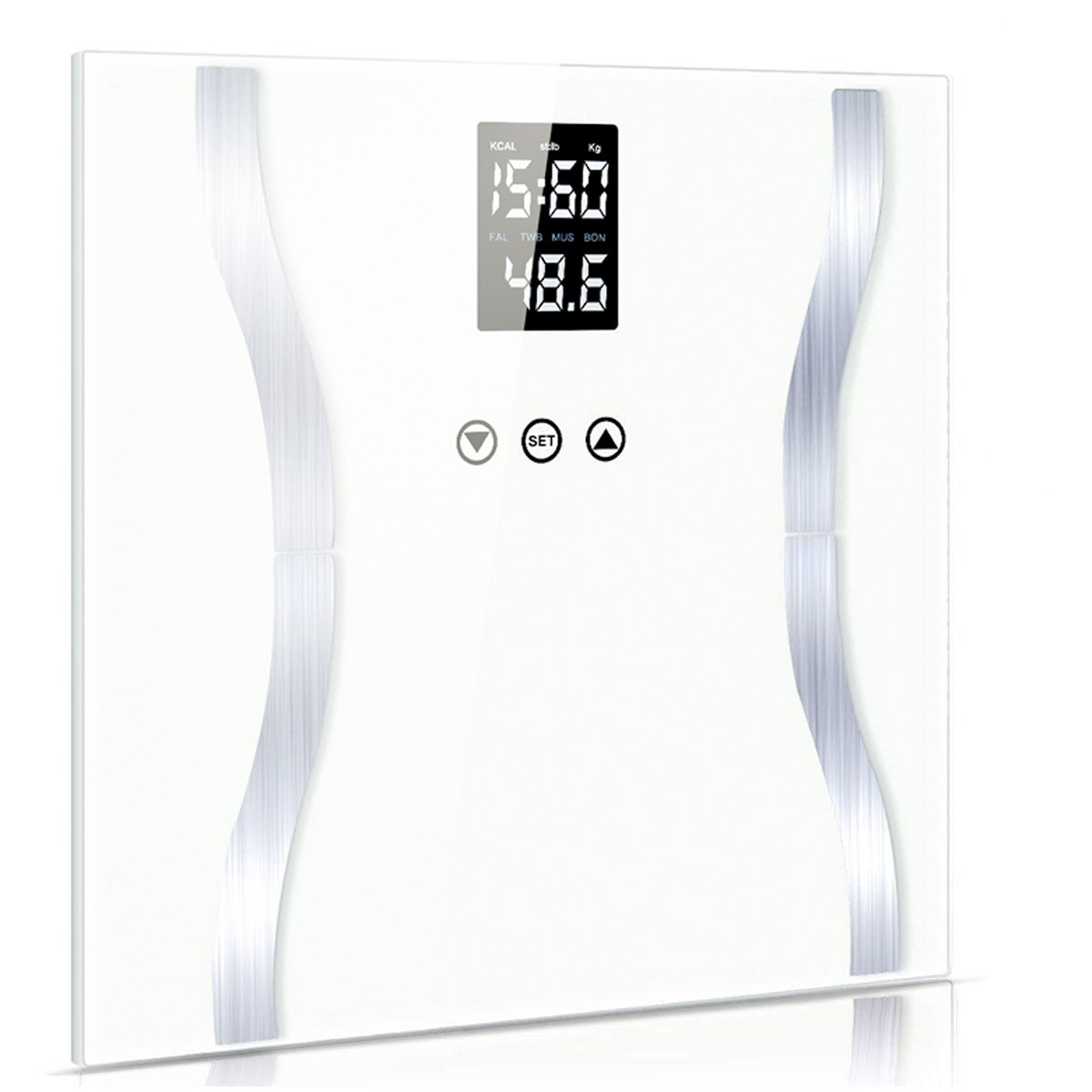 Fypo Bilancia impedenziometrica,bilancia pesapersone,misuratore massa grassa,liquidi, muscoli,massa ossea, Indice di massa corporea (BMI), schermo LCD,supporti antiscivolo SAOYH 01-F0018