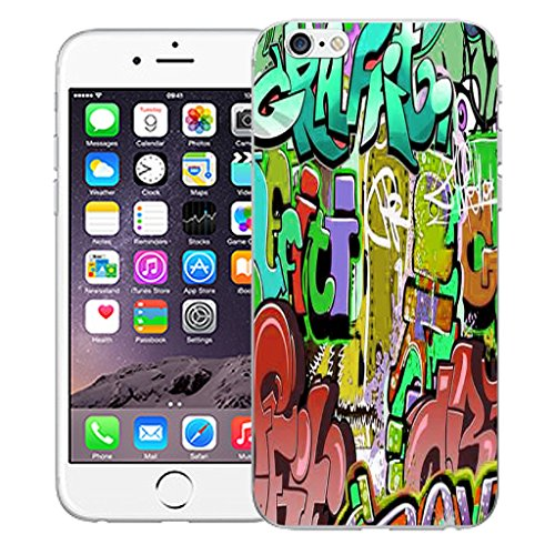 """Mobile Case Mate iPhone 6S Plus 5.5"""" Silicone Coque couverture case cover Pare-chocs + STYLET - Mischief pattern (SILICON)"""