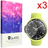 Ceston 9H Vetro Temperato Pellicole Protettive Per Smartwatch Ticwatch E / Ticwatch S (3 Pack)