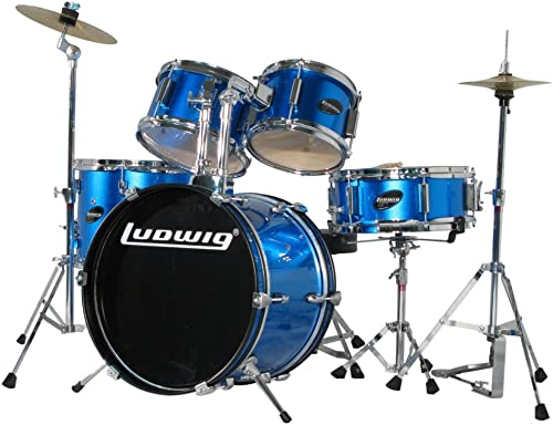Ludwig Junior 5 Piece Drum Set With Cymbal