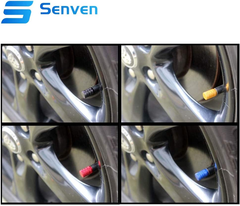 V/álvula de neum/ático universal Senven 20Pcs Alta calidad Tapones de v/álvula de aleaci/ón de aluminio 5 colores. bicicleta cami/ón moto V/álvula de neum/ático para evitar fugas de aire para coche