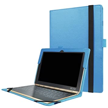 Lenovo Yoga Book Skin Cover,Lenovo Yoga Book Case Cover Slim,Folio Premium PU Leather Stand Cover for Lenovo Yoga Book Case Leather,Light Blue