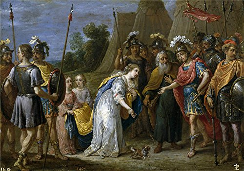 Oil Painting 'Teniers David Armida Ante Godofredo De Bouillon 1628 30 ' Printing On Polyster Canvas , 20 X 28 Inch / 51 X 72 Cm ,the Best Wall Art Gallery Art And Home Artwork And Gifts Is This Amazing Art Decorative Prints On Canvas ()